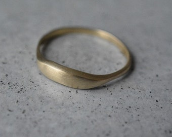14k gold solid ring, gold wedding band, simple gold ring, unique wedding bands for women, stackable ring, delicate wedding ring, 14k gold
