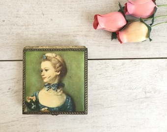 Ring Box with Victorian Lady
