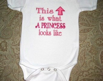 Princess Baby One Piece Bodysuit Infant Girl Baby Shower Gift New Baby Girl Gift Princess Baby Girl Gift