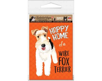 "Wire Fox Terrier - Magnet 3.56"" x 4.75"""