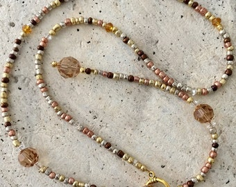 Crystal Topaz Lariat Necklace