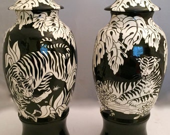 Two Wild Life Inspired Urn