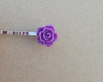 Purple Hair Pins (set of 2), hair pins, flower pins,purple hair pins,girl hair, hair pin, bobby pin