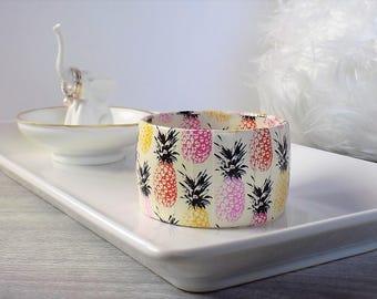Pineapple Bracelet - Pineapple Jewelry - Tropical Bracelet - Colorful Pineapple Bangle - Pineapple Fashion Jewelry - Pineapple Bangle