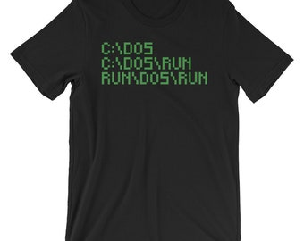 Run Dos Run T-shirt Funny IT Geek Tee