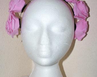 Flower Crown Headdress Pink Rose Headband Headpiece Flowers Pretty