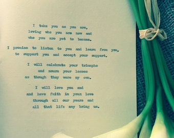 Custom love letter marriage vows proposal poem short