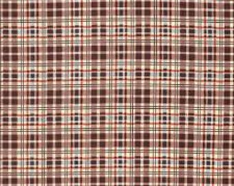 Fabric by the Yard --  Winter Walk Plaid in Bark by Denyse Schmidt