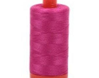 Fuchsia Aurifil Mako Cotton Thread Color 4020, 50 wt, 1300m, 1 spool