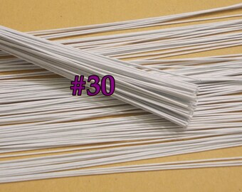 100 lines white floral wire flower stem artificial length 12 size 400 wire stems gauge30 length 12 x 03 mm floral wire flower stem artificial artificial stems floral stem white wire stems keyboard keysfo Choice Image