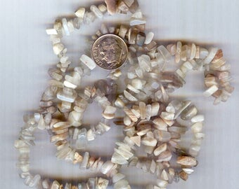 Multi Moonstone Chip Beads 35 inches