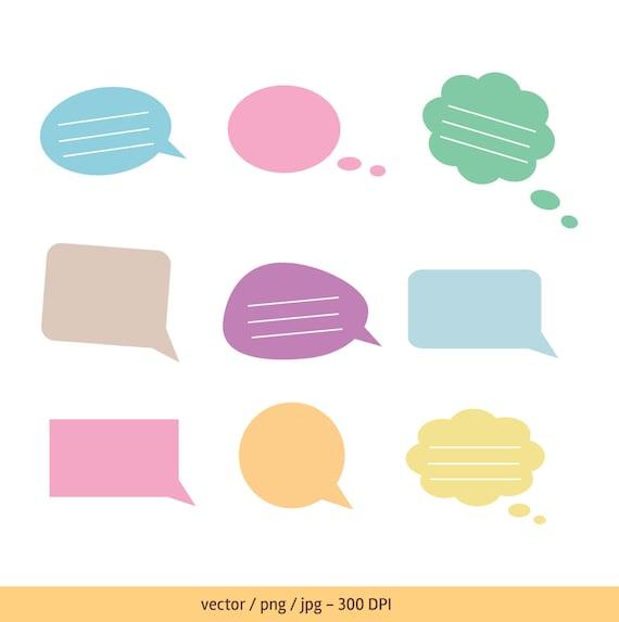 text bubble speech bubble thought bubble vector text bubble rh etsy com iphone text bubble vector free iphone text bubble vector