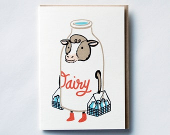Milk Mover Greeting Card (4-bar)