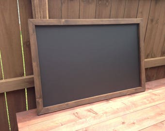 "Large 36"" x 48"" Rustic Framed Chalkboard, Rustic Wedding Chalkboard, Kitchen Menu, Menu Board, Rustic Frame"