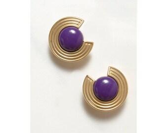 1980s Earrings . New Wave . 80s Earrings . Statement Jewelry