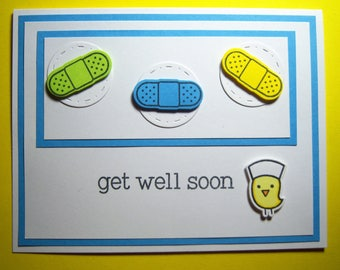 Chickie Nurse with Bandages Get Well Card