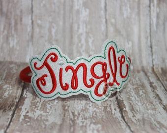 Christmas Jingle Glitter Slider - Holiday Headband for your little Princess - Holiday Slider - Christmas Headpiece