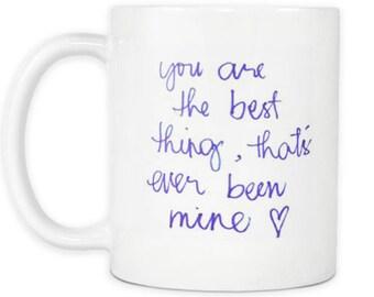 Taylor Swift Mine Song Lyric Quote Coffee Mug Tay Tay Swifty Fan Mug The Girlfriend Mug Birthday Sister Gift T Swift Tea Cup Swiftie
