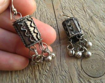 Vintage earrings, metal earrings, asian vintage earrings, boho earrings, vintage jewelry, unique earrings, boho jewelry, ethnic style