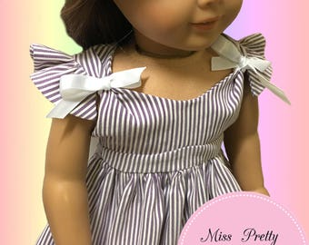 "18 Inch Doll Clothes, American Girl Doll Clothes, 18"" Doll Clothes Pattern, MPP Boutique Pattern, 18"" Doll Pattern pdf, Doll Dress Pattern"