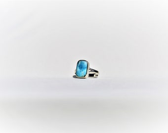larimar best quality  ring  silver 925, taille  54 ,