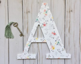 Large Wall Letters, Letters for Nursery, Personalized Letter, Single Initial, Custom Single Letter, Single Nursery Letter, Custom Letter