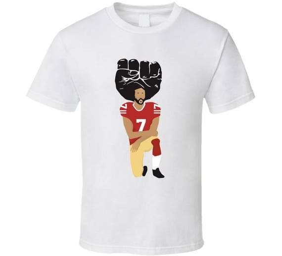 Colin Kaepernick sublimation T shirt 0zrp32KO