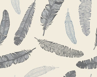 Grey Goose Feathers Wallpaper Decal 8 Foot