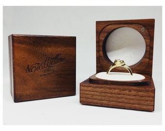 Handcrafted Walnut Ring Box | Engagement Ring Box | Wedding Ring Box