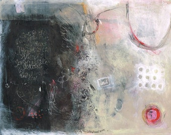 mixed media paper abstract mysterious ethereal