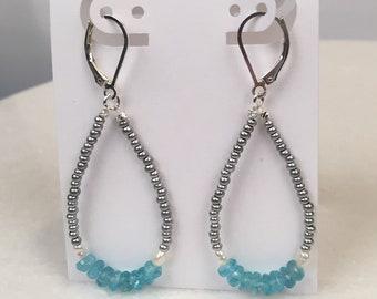 Island Hopper hoop earrings