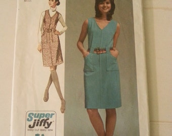 Simplicity sewing pattern, Vintage sewing pattern, Simplicity pattern 9455, 1970's sewing pattern, A6