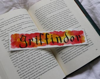 Griffindor Watercolour Bookmark