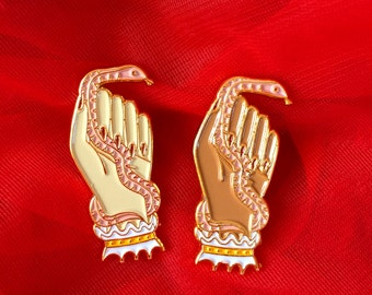 "Snake Hand 1.5"" Enamel Lapel Pin"