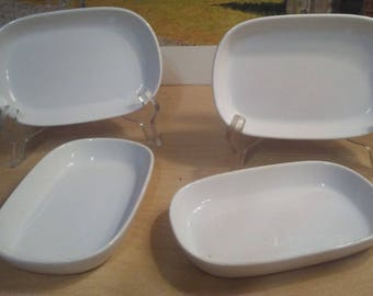Lot Of 4 Vintage Pfaltzgraff United Airlines Serving Trays