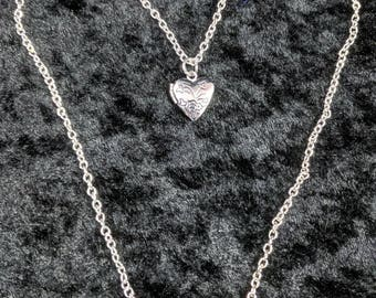 Heart locket necklace #357