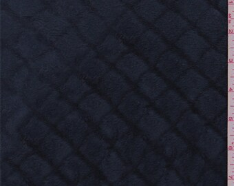 Coventry Blue Diamond Faux Fur, Fabric By The Yard
