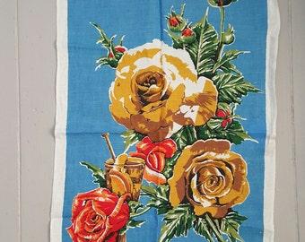 Pure Linen Tea Towel AS NEW Vintage