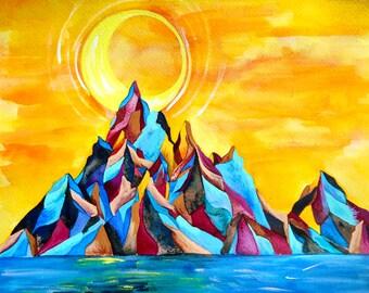 PRINT - Moonrise Mountain