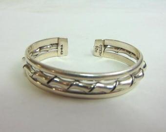 Vintage Estate Sterling Silver Cuff Bracelet 31.0g E3604