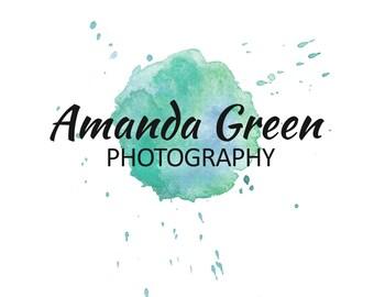 Custom Watercolor Logo Premade Design 025. Business Logo, Branding Logo, Photography Logo, Photographer Logo, Watercolor Logo
