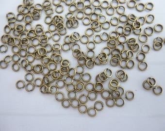 50 jump rings open silver-plated 4 mm