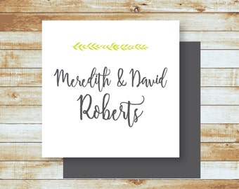 Personalized Calling Cards / Gift Tags / Mere & David