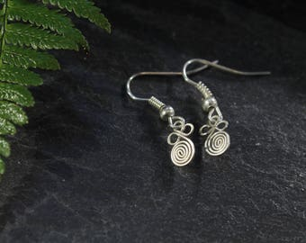 Sterling Silver, Spiral Earrings, Etruscan Jewelry, Handmade Silver Wire, Simple Earrings, Small, Elegant Earrings, Minimalistic Earrings