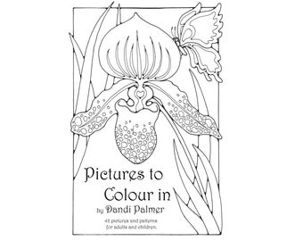 Pictures to Colour In, 42 different pages to download and print out.