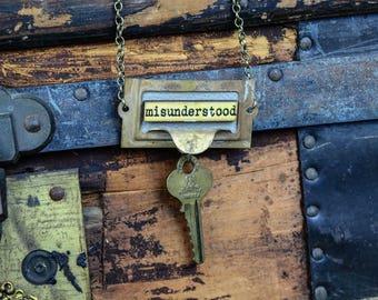 Upcycled Necklace Misunderstood