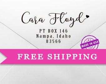 Girl's Custom Address Stamp-Stamp for her-Gift for her-personalized gift for her-Self inking sample-Great Gift for mother/GF/wife
