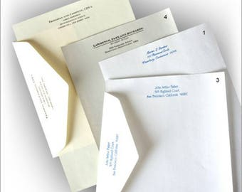 100 Sheets of Executive Stationery, 100 Printed Envelopes, Business Letterhead, Business Stationery, Letter Sheet  Executive Stationery 8370