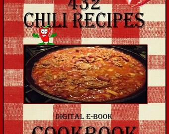 432 Chili Recipes E-Book Cookbook Digital Download
