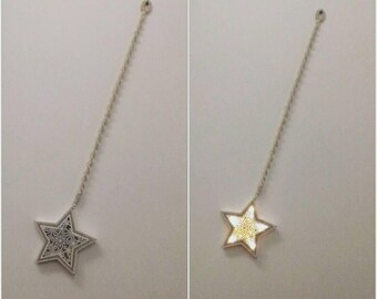 Bright star on macrame cord
